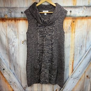 NWOT STYLE & CO Sleeveless Sweater Tunic w Pockets